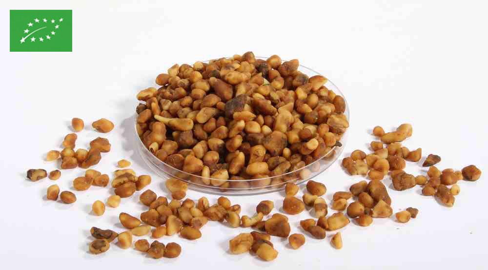 Organic caramelised 4/10 mm walnuts
